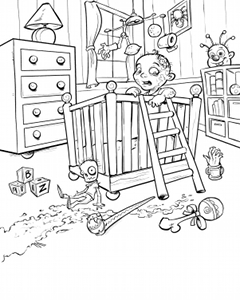 Baby Zom Coloring Page