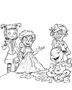 Moore Zombies Coloring Page